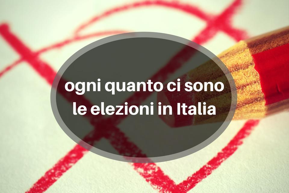 Ogni Quanto ci Sono le Elezioni in Italia